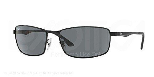 RAY BAN Herren 3498 Sonnenbrillen matte black