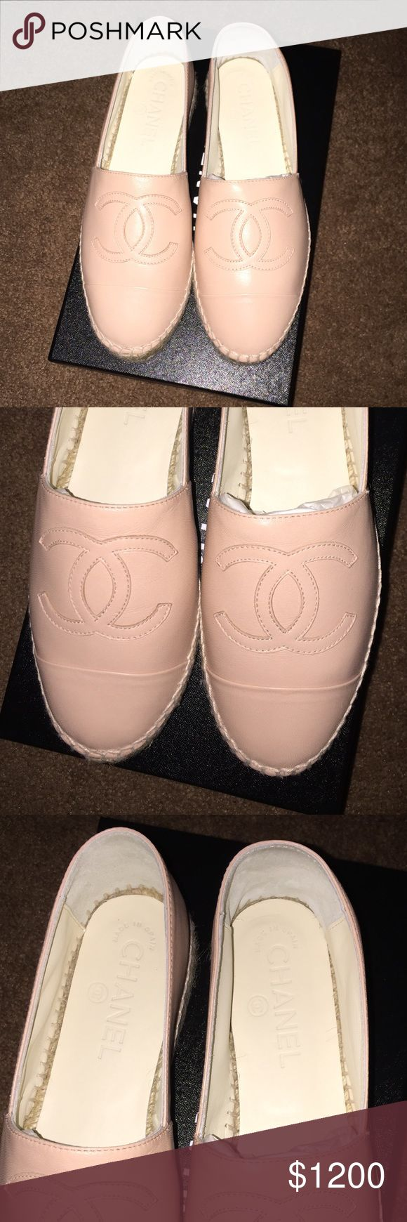 Brand New Chanel Espadrilles Sz 6 New blush color sold out everywhere!! Sz 6.. price is firm. No trades. Comes with copy of original receipt. Purchased from Saks in SF. CHANEL Shoes