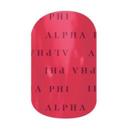 Alpha Phi | Jamberry | Bond with your big or little with our officially-licensed Alpha Phi nail wraps. Wear these wraps alone or pair them with Jamberry Professional Nail Lacquer in your sorority colors for spirit fingers that last. **Collegiate and Sorority designs can not be redeemed through host rewards, product credits, buy three get one free or any other special offer.