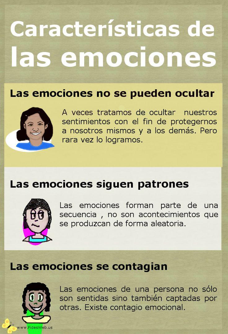 INTELIGENCIA EMOCIONAL, Características de las emociones