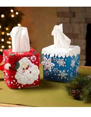 Bucilla ® Seasonal - Felt - Home Decor - Tissue Box Covers | Plaid Enterprises