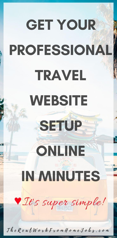 Get your professional websites, online in minutes. #travel #website #online #promo