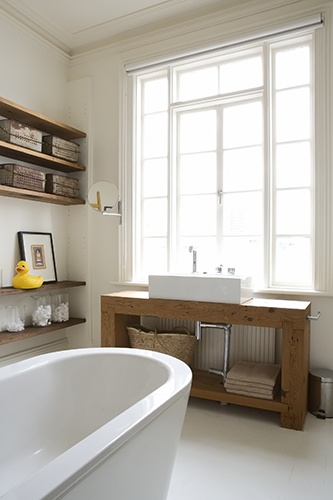 This timber vanity with the rectangular sink but I need cupboard doors!!!!