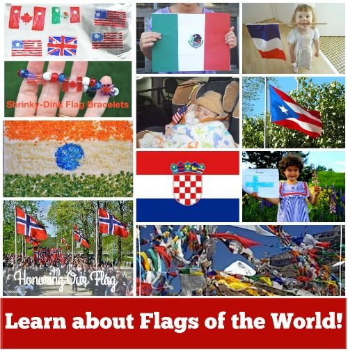 Learning about #Flags of the World: Geography for Kids