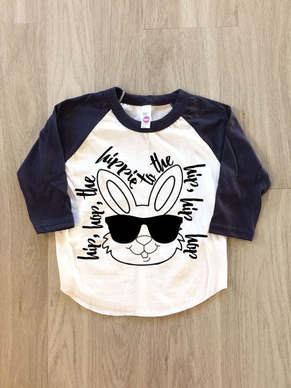 Hip Hop Easter Shirt - baby boy or girl clothes toddler shirt