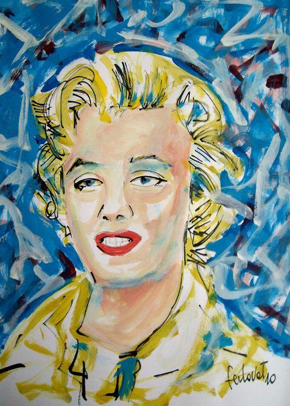 Marilyn Monroe by NandoTelly on Etsy, €49.00