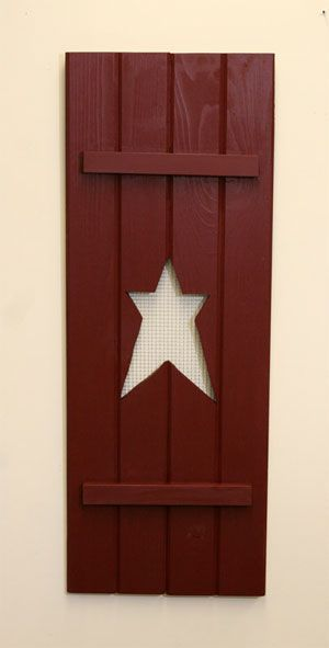 want 2 of these to hang on both sides of my shelf: Decorating Ideas, Prime Decor, Prim Star, Americana Primitive Country, Country Prim, Prim Shutters, Primitive Shutter Ideas, Star Shutter