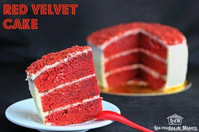 Receta de Tarta terciopelo rojo (red velvet cake)