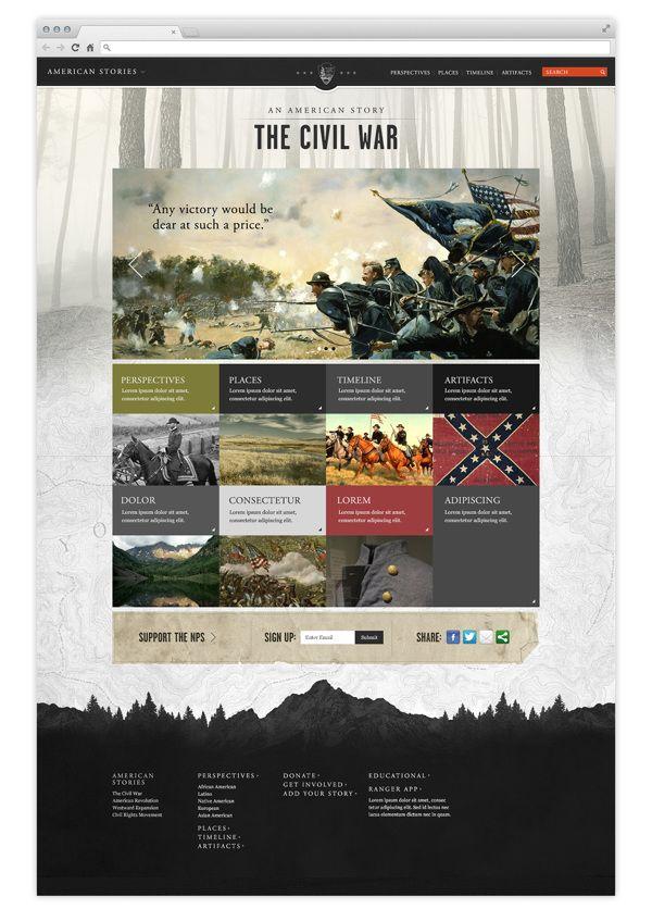 National Parks Service on Web Design Served