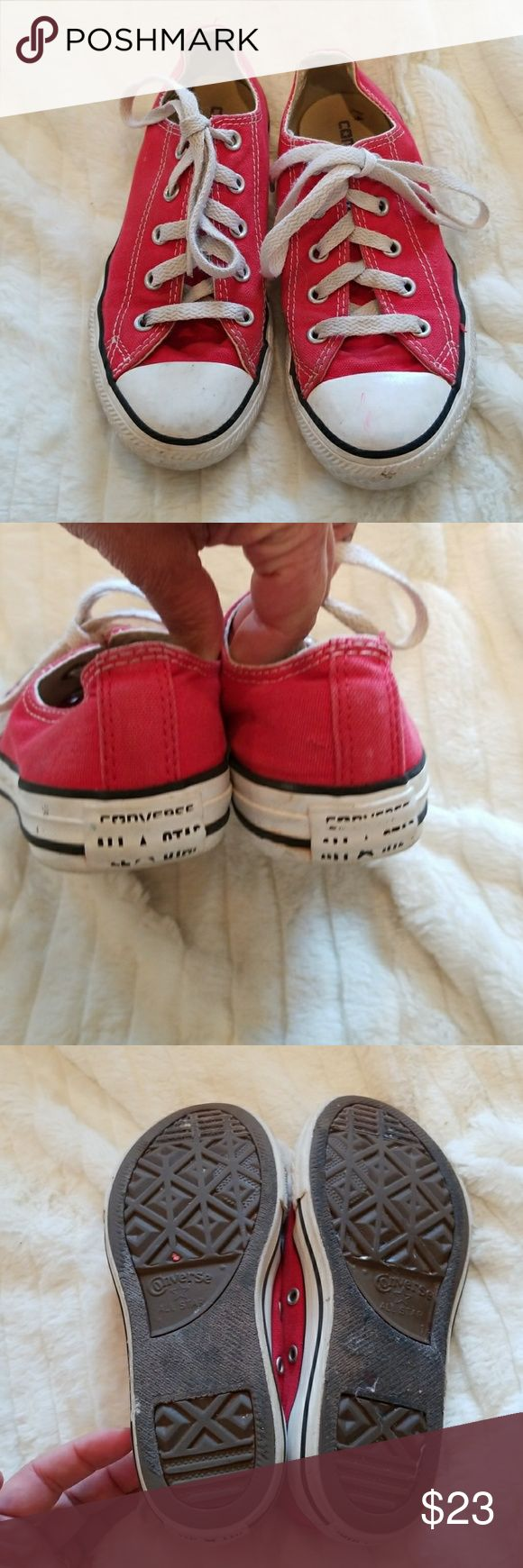 CONVERSE RED LOW TOPS UNISEX Good condition red CONVERSE for girls or boys. Converse Shoes Sneakers
