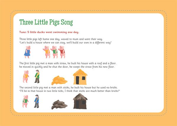 Three Little Pigs Song | Free EYFS / KS1 Resources for Teachers