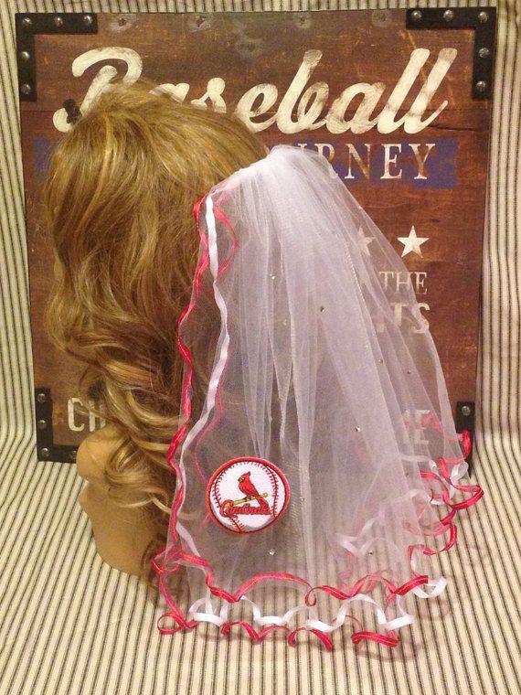 St. Louis Cardinals Bachelorette Party Veil by studiolmichelle, $35.00