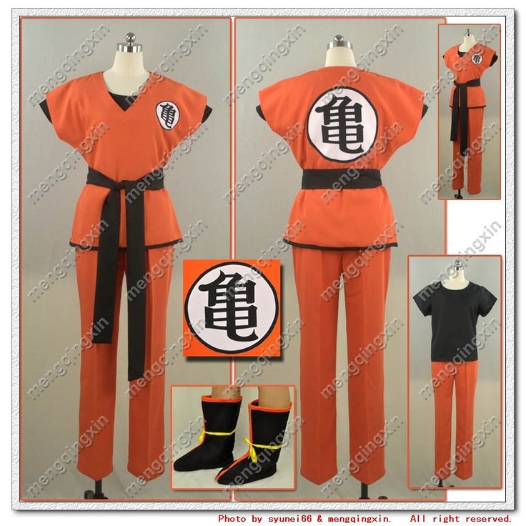 DBZ Dragon Ball Z Son Goku Cosplay Costume any size Custom Made Free Shipping(China (Mainland))