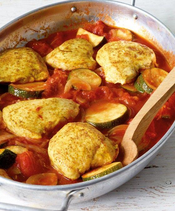 Curryhähnchen aus dem Ofen (Low Carb)