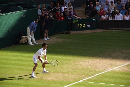 A shot of Novak Djokovic from my 2015 Wimbledon Championships photo essay. This is from the his quarterfinal against Marin Cilic. #photography #photoessay #tennis #itsonyou