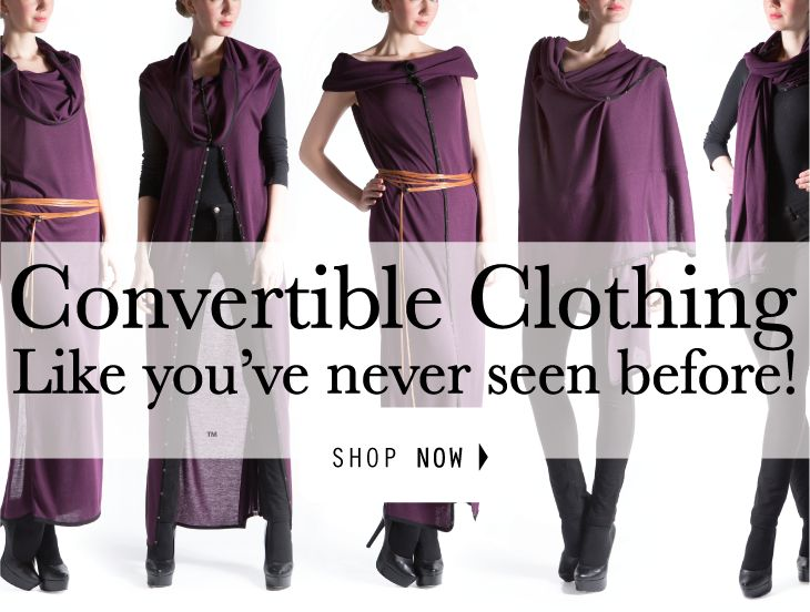 Ladies fashion convertible dress