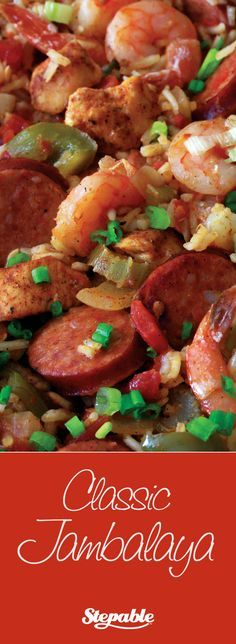 Classic Jambalaya with very little prep work and super easy to make. Listen to The Outdoor Cooking Show Sunday afternoons 5:00 - 6:00 PM on KPRC 950 AM in Houston, or via streaming media via the iHeart radio app.  If you can't listen live, podcasts are available via iTunes.