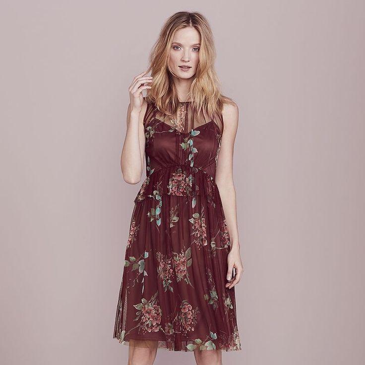LC Lauren Conrad Dress Up Shop Collection Tulle A-Line Dress - Women's, Drk Purple