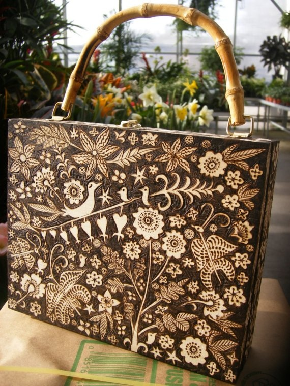 Burned Furniture. shge is my favorite pyrography artist. check out her stuff