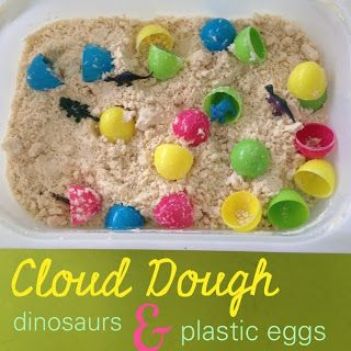 Dinosaurs activities for young children - sensory tub