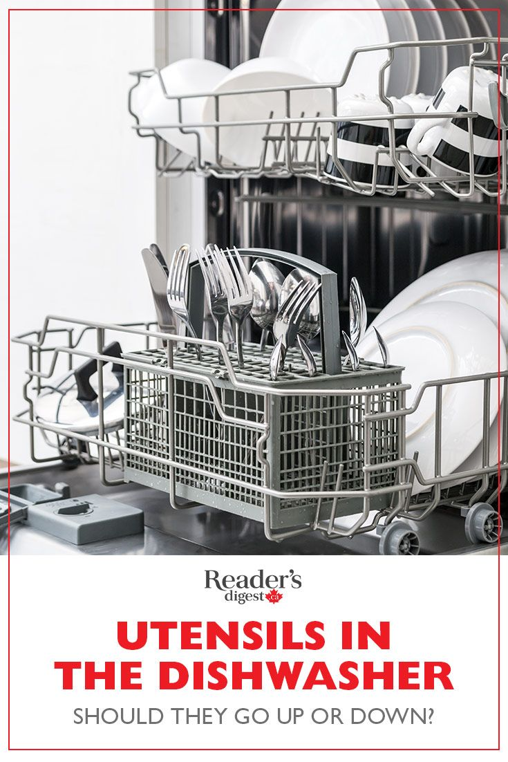 Utensils In The Dishwasher Should They Actually Go Up Or Down