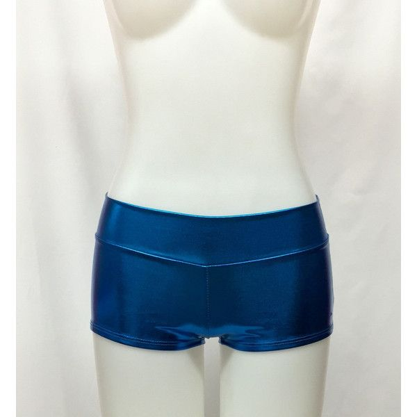 Women's Metallic Teal Booty Shorts Teal Shorts Teal Boy Shorts Teal... ($15) ❤ liked on Polyvore featuring shorts, teal, women's clothing, teal shorts, short shorts, metallic boy shorts, short boy shorts and boy shorts
