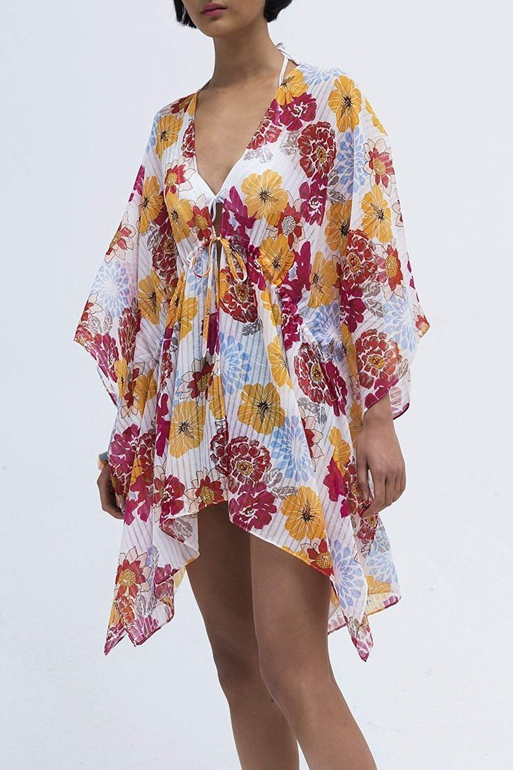 efde65a448 Pretty Floral Beach Cover Up is perfect for your next tropical vacation.  This style comes in many different print options. Bathing Suit Cover     Beach ...