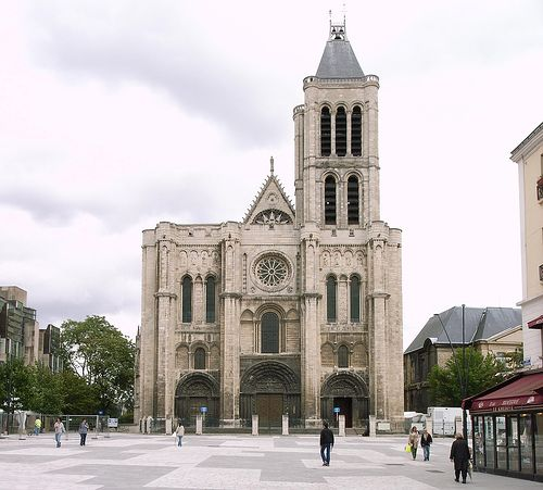 Basilique St Denis, Paris. Built in the early 12th century by Abbot Suger.