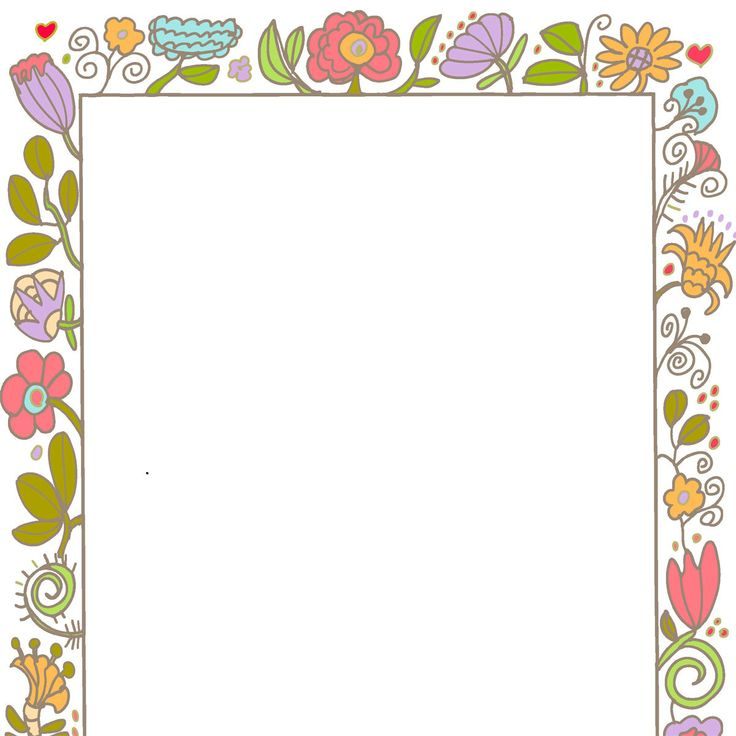 Wedding And Certificate Floral Border Border Clipart: Borders Frames Vintage Style Decorative Cute Invite