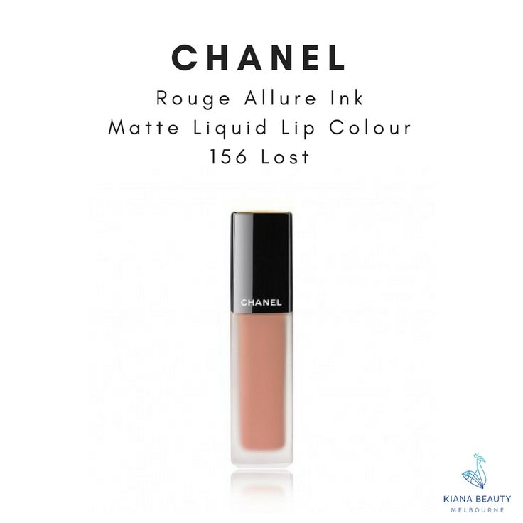 CHANEL Rouge Allure Ink Matte Liquid Lip Colour in 156 Lost. Part of 2017 Fall-Winter Makeup collection. An intense and luminous ink in a matte liquid lip colour. Buy CHANEL makeup online from Australian stockist with FREE SHIPPING over $50, Afterpay available.