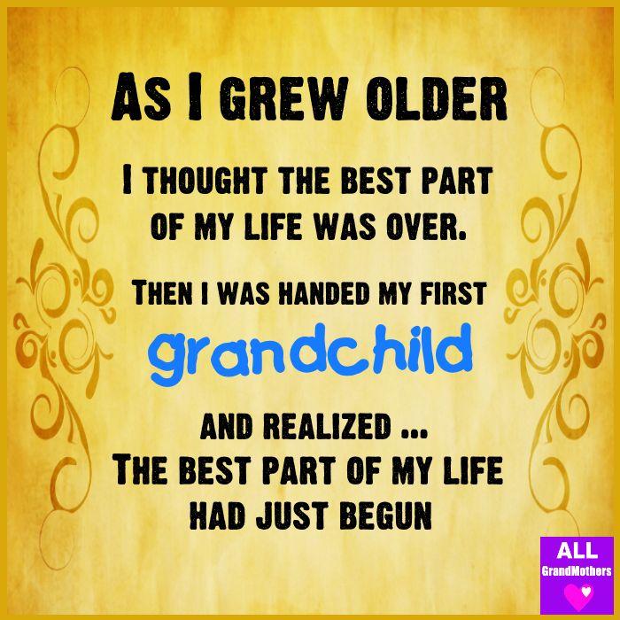 As I grew older  . . . .
