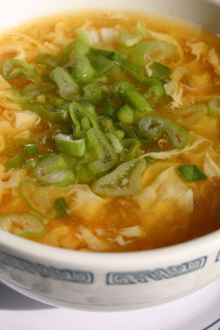 Egg Drop Soup With Chicken - 2 Ww Pts. | KitchMe.