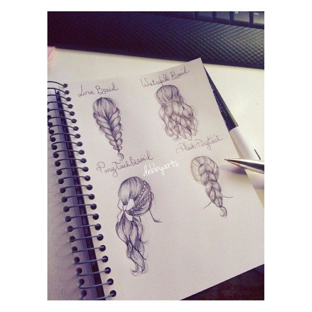 .@Debby Cullen | Hairstyles drawings ♡  today is so cold outside ( brrr ) ♡ #hair #life #love ... | Webstagram