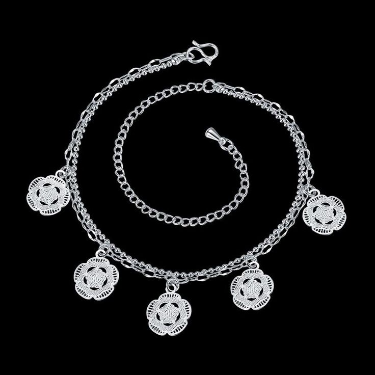 Get The Latest Fashion Jewelry  Cute Flowers Charm Foot Anklet For Women Silver Ankle Bracelet Female Silver Plated Summer Style Jewelry     Buy Jewelry At Wholesale Prices!     FREE Shipping Worldwide     Buy one here---> http://jewelry-steals.com/products/cute-flowers-charm-foot-anklet-for-women-silver-ankle-bracelet-female-silver-plated-summer-style-jewelry/    #necklaces