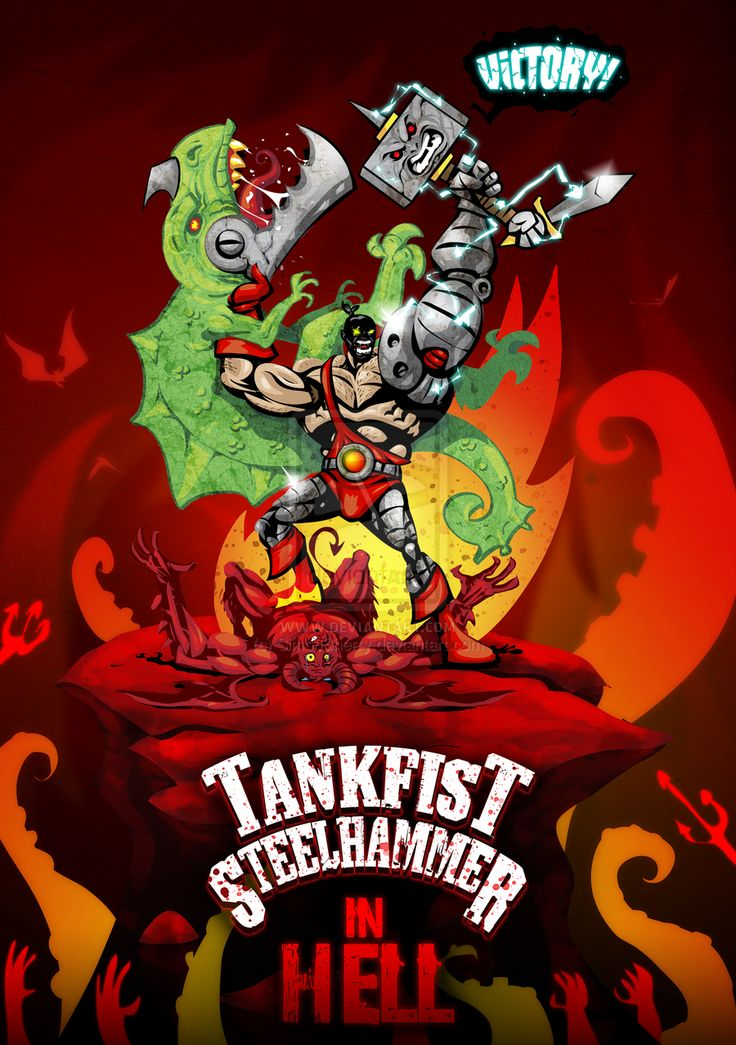 Tankfist Steelhammer in Hell - think this may have to become a comic down the line...