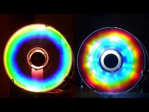 Cómo hacer Colores Alucinantes con un CD (Arco iris Casero) /experiencia de Física - YouTube