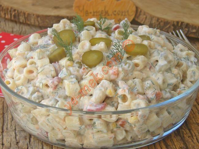Yoğurtlu Makarna Salatası Resimli Tarifi - Yemek Tarifleri