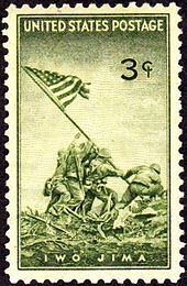 """Raising the Flag on Iwo Jima"""" is a historic photograph taken on 23 February 1945 by Joe Rosenthal. It depicts five Marines and a U.S. Navy corpsman raising the flag of the United States atop Mount Suribachi.[8] The photograph was extremely popular, being reprinted in thousands of publications. Later, it became the only photograph to win the Pulitzer Prize for Photography in the same year as its publication, and ultimately came to be regarded as one of the most significant and recognizable…"""