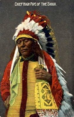 Chief High Pipe of the Sioux, Indian