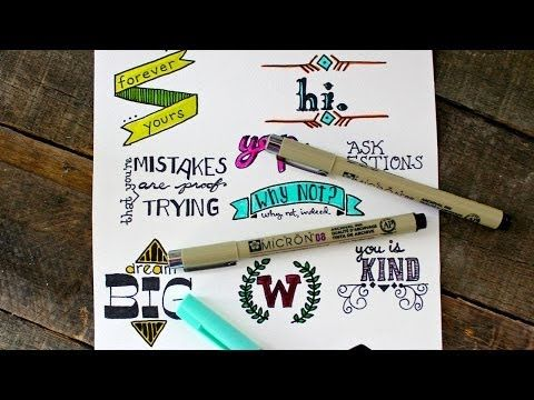Hand Lettering for Beginners - has some hints about materials too