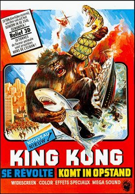 French King Kong Poster  Lost In Translation: 20 Baffling Foreign Movie Posters | Cracked.com