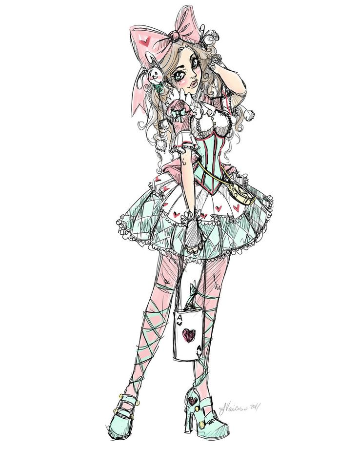 Pink and Blue Lolita by NoFlutter.deviantart.com on @deviantART