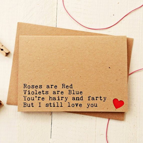 Funny Husband Card Anniversary Card Love Card Funny