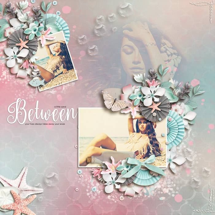 The Beach takes my heart to a place of Serenity and Peace.  Serenity Beach is a pastel beach and ocean collection perfect for Spring, Summer, Nature, Outdoor and everyday layouts or any other projects too!