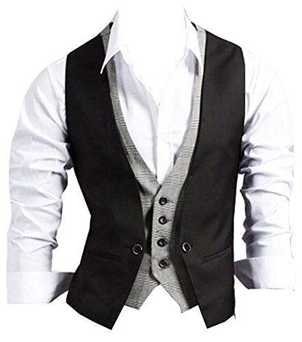 125 kr. (Findes også i brun, grå og M06 sort) Izaac Mens Top Designed Casual Slim Fit Skinny Dress Vest Waistcoat Gilet (UK L/Tag XXL, black) Izacu http://www.amazon.co.uk/dp/B00K103NRQ/ref=cm_sw_r_pi_dp_BKm3wb0S32WVK