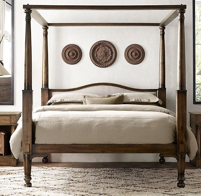 Four Poster Double Bed Part - 41: RHu0027s Early 19th C. American Four-Poster Bed:Our Reproduction Of An Antique