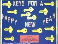 Keys-New-Year: January Bulletin Boards, Schools Bulletin Boards, Happy New Years, Cool Bulletin Boards, Classroom Decor, Classroom Bulletin Boards, Schools Ideas, Classroom Ideas, Boards Ideas