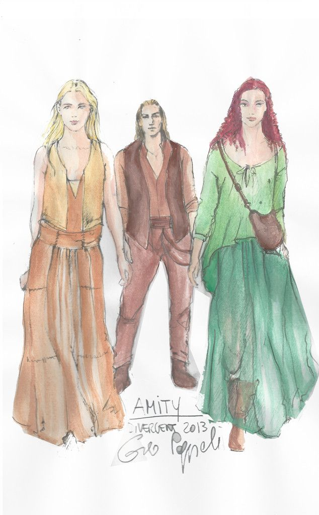 The style of #Amity. #Divergent costume sketches.
