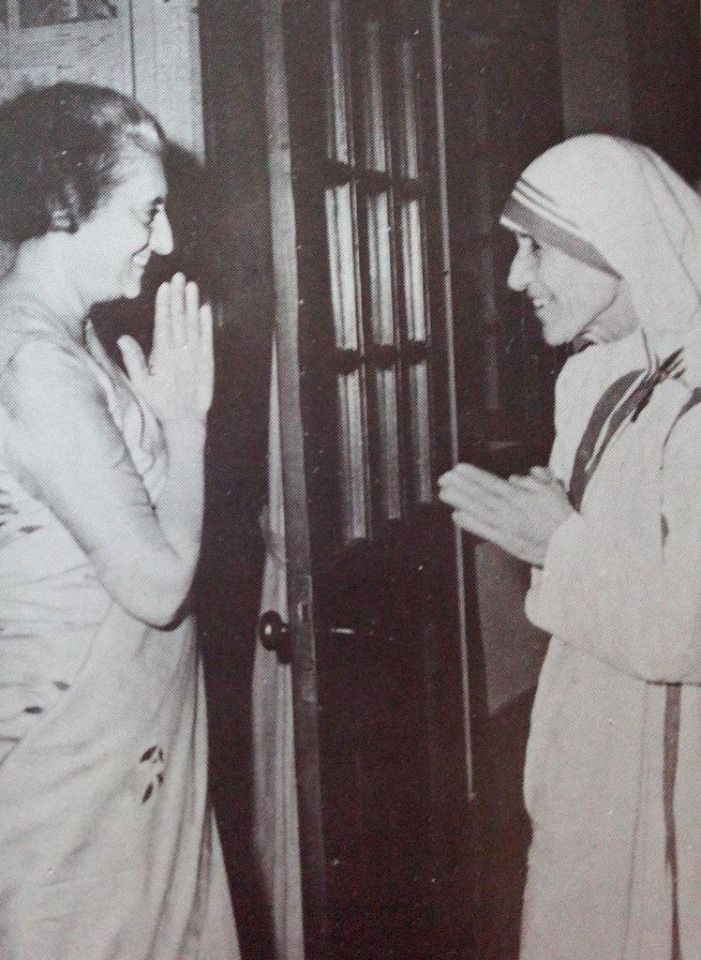 Indira Gandhi & Mother Theresa