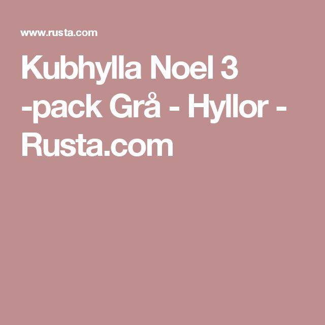 Kubhylla Noel 3 -pack Grå - Hyllor - Rusta.com